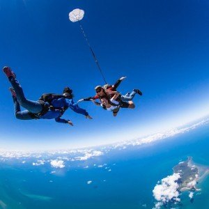 Skydiving and Great Barrier Reef
